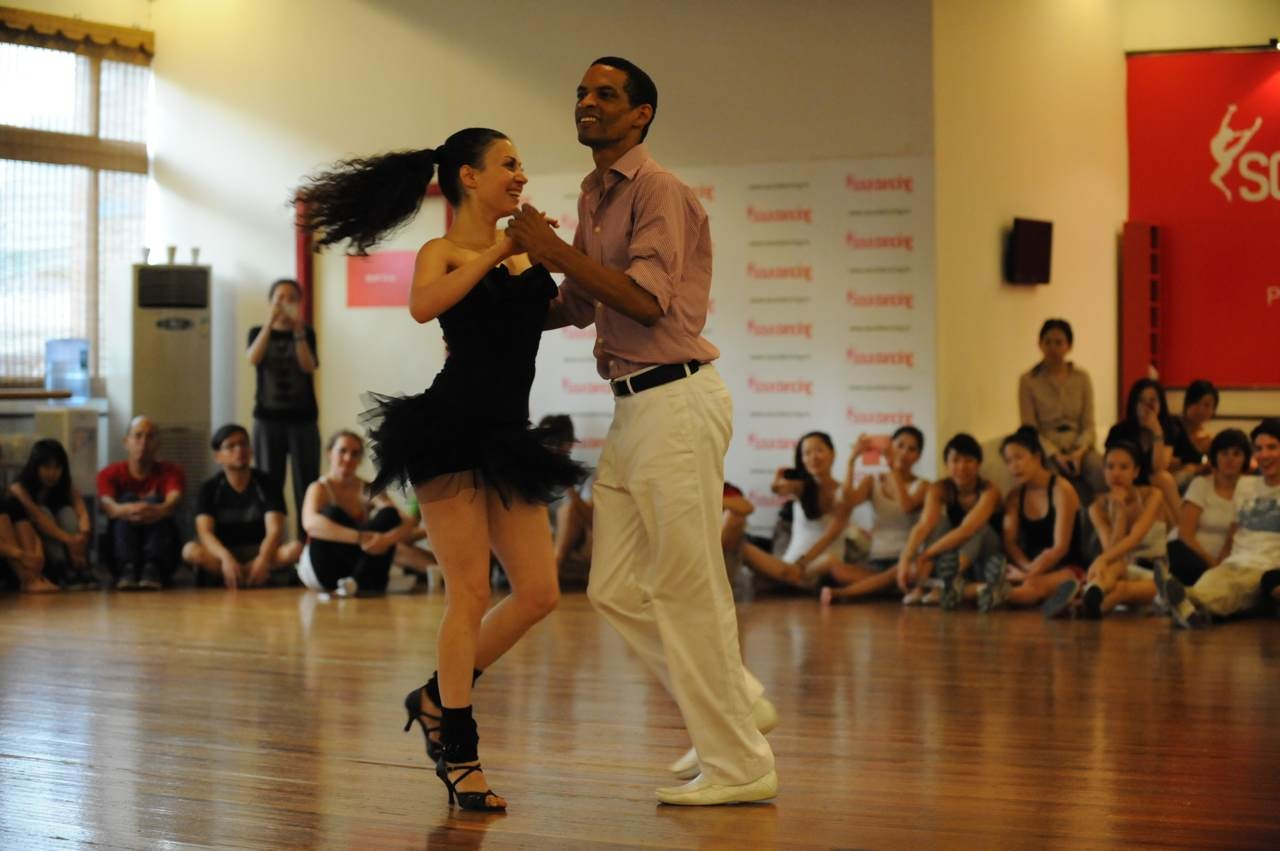 Salsa Cuban Style between a man and a lady