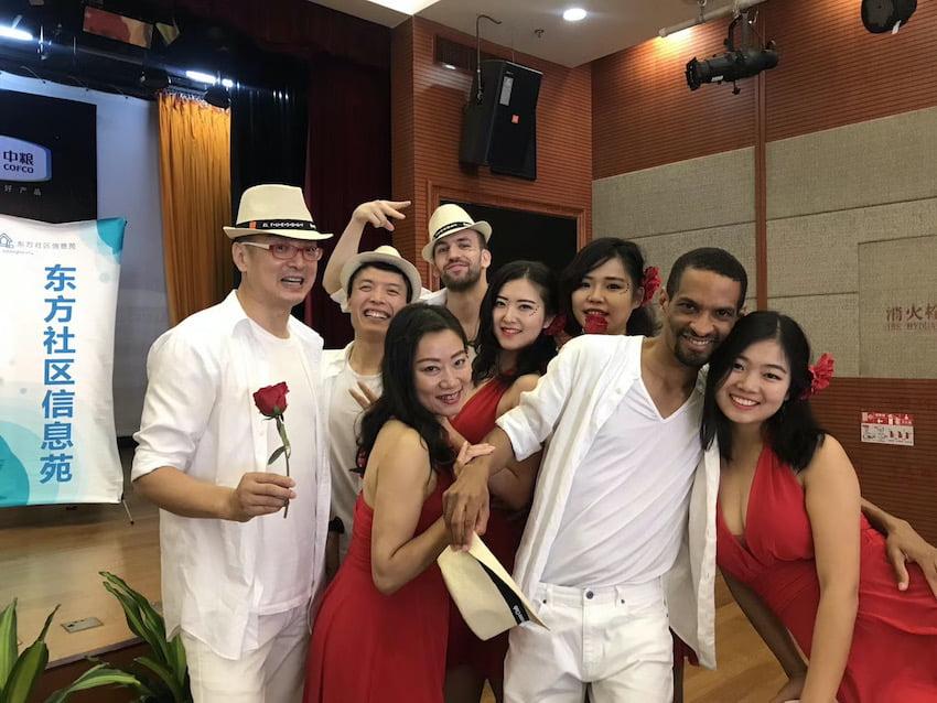 Groups of dancers
